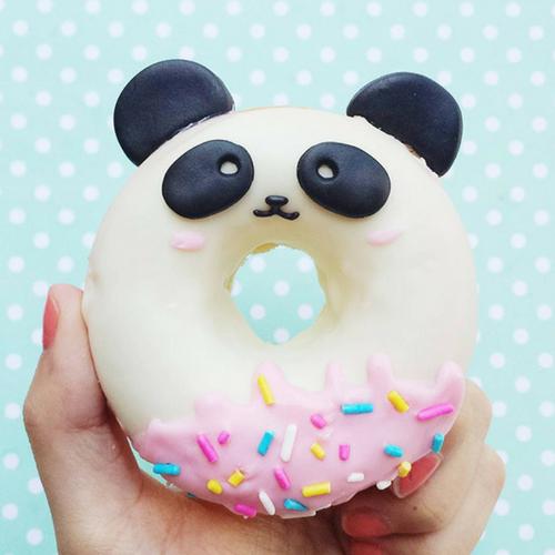 donut blanc forme panda