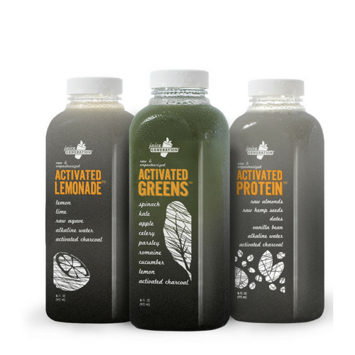 activated greens charbon bouteille
