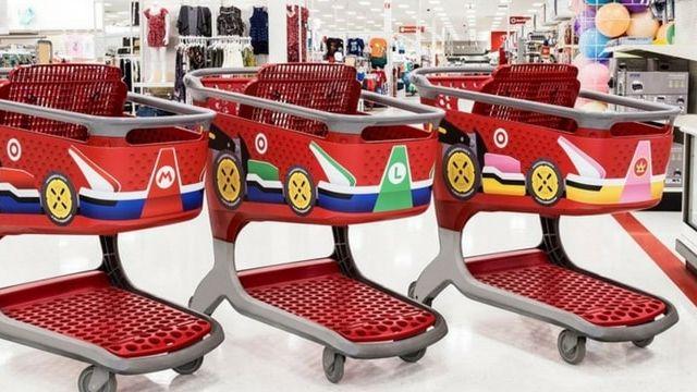 Target crée des chariots aux couleurs de Mario Kart