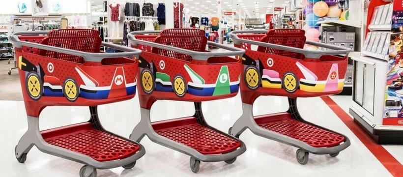 les magasins target l 39 effigie de mario kart pour la switch. Black Bedroom Furniture Sets. Home Design Ideas