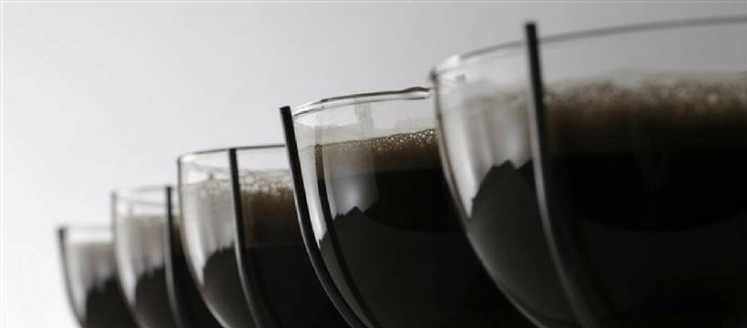verres remplis soupe terre
