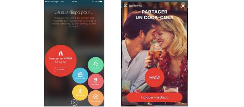 application happn dispositif coca cola