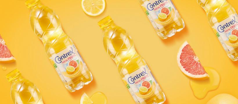 packaging contrex citron pamplemousse