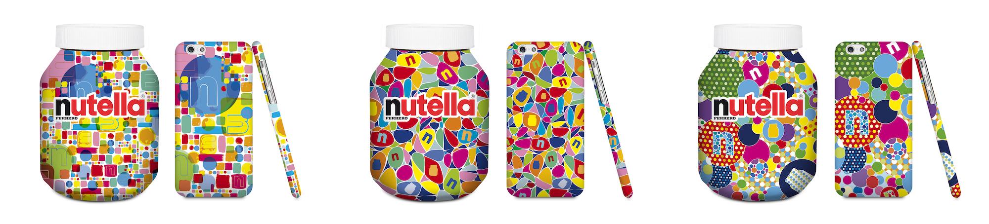 pot nutella multicolore