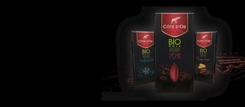 packaging côte d'or bio