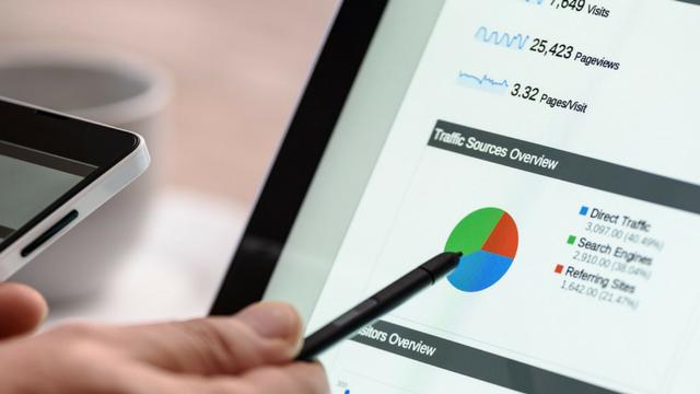 google analytics sur écran de tablette