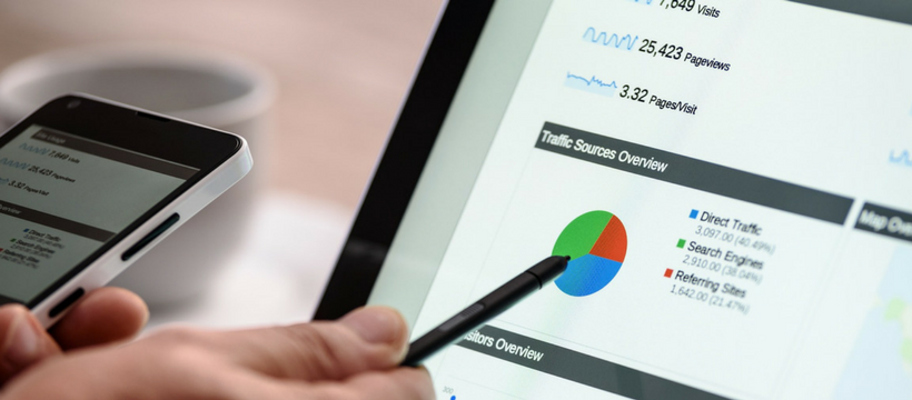 google analytics sur écran de tablette