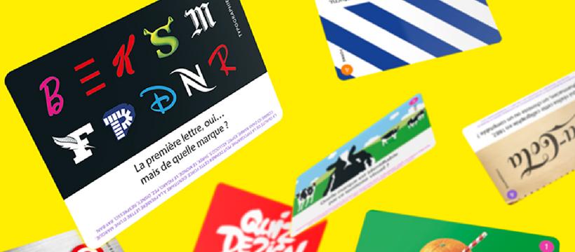 cartes jeu de société Quizz Design