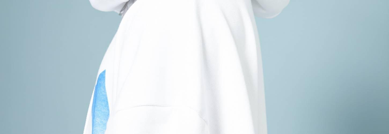 hoodie evian blanc