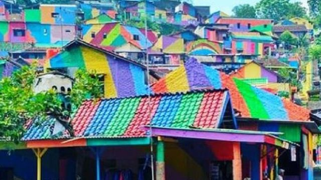 Kampung Pelangi, un village arc-en-ciel en Indonésie