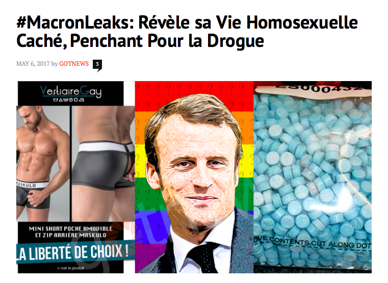 Macron fake news