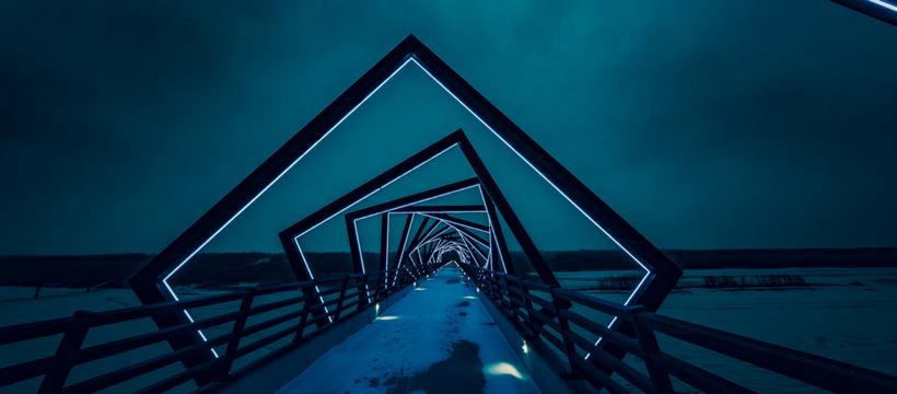 tunnel illusion d'optique