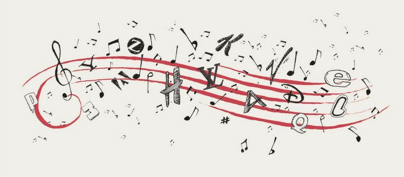 notes de musique en marques