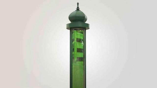 colonne morris algues vertes