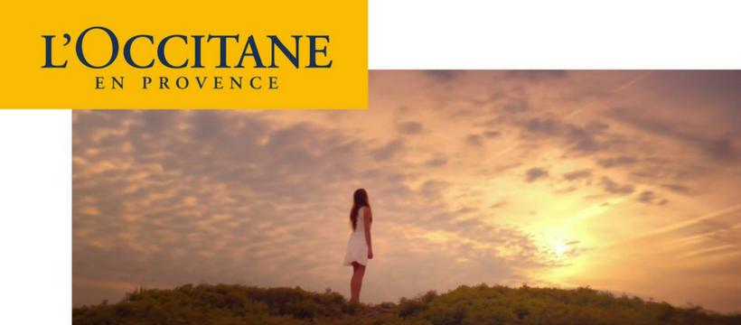 publicité occitane femme ciel