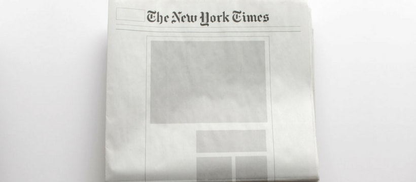 Le New York Times vide de contenu