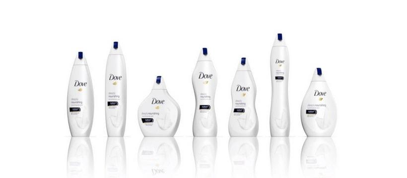 Dove change ses bouteilles de gel douche