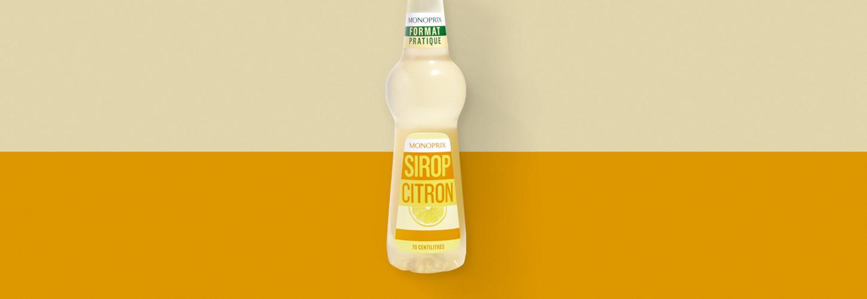 Sirop de citron Monoprix