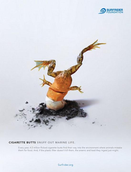 Surfrider foundation grenouille cigarette