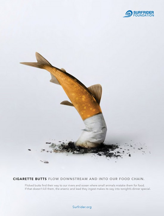 Surfrider foundation poisson cigarette