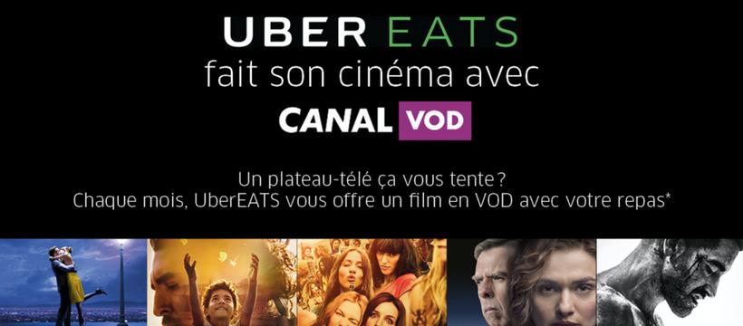 affiche uber eats cinéma canal vod