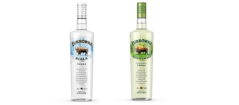 bouteilles vodka zubrowka