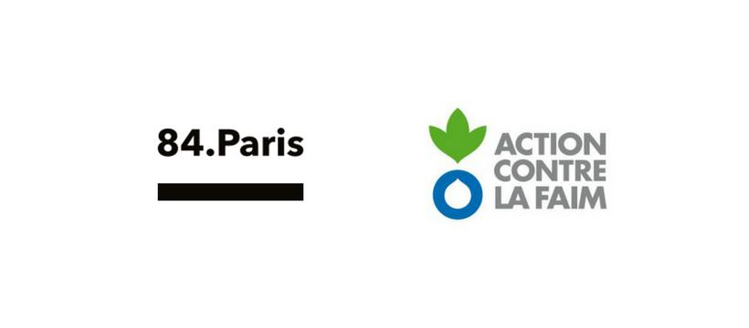 logos 84.paris et Action Contre la Faim