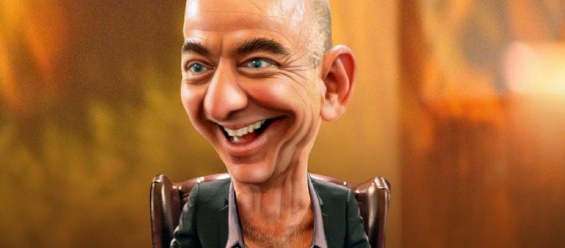 Caricature Jeff Bezos