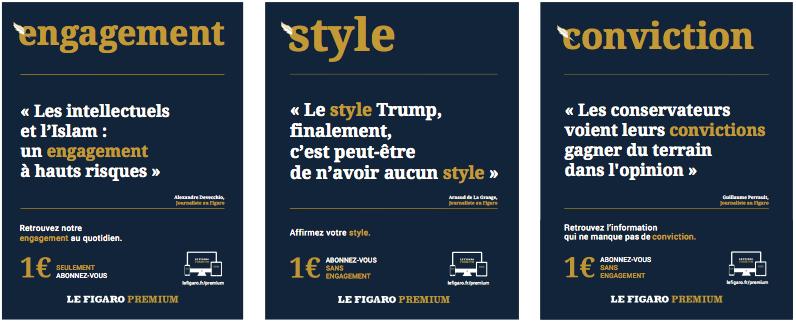 campagne Le Figaro de l'agence Rébellion