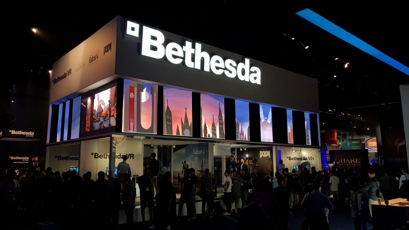 Stand Bethesda E3 2017 avec logo