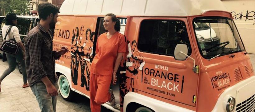 camion orange is the new black Paris
