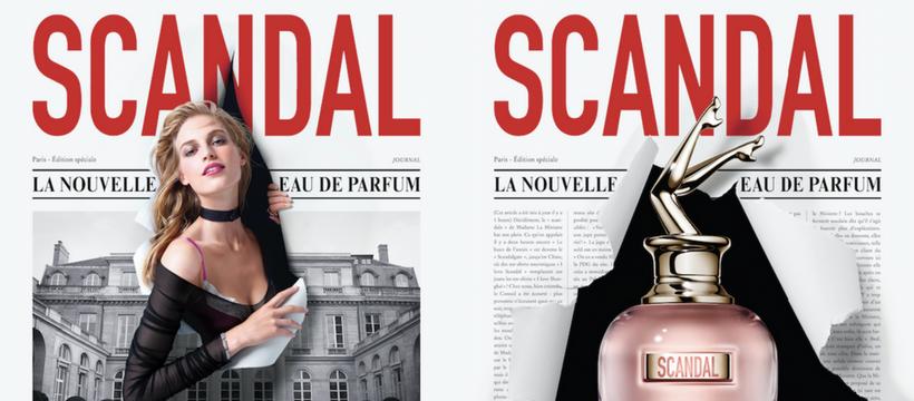 Mazarine signe le lancement du parfum Jean-Paul Gaultier Scandal