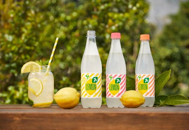 nouvelle boisson 7UP lemon lemon dans un jardin