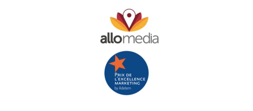 logos allomedia et prix de l'excellence marketing