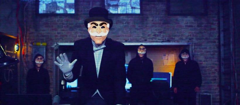 Hommes masqués issus de la série Mr. Robot