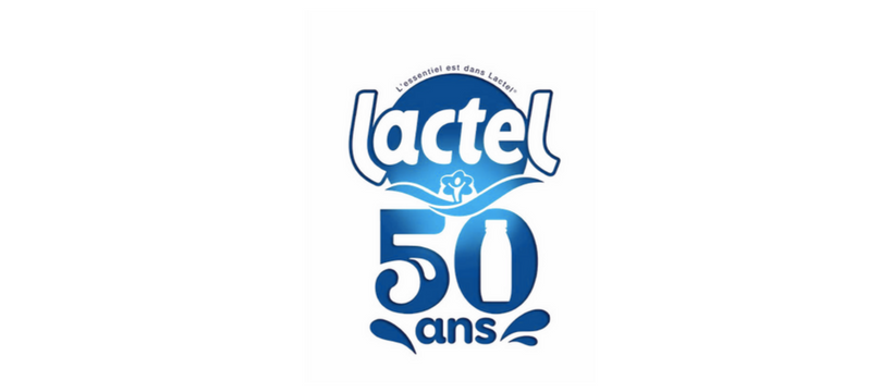 logo lactel 50 ans