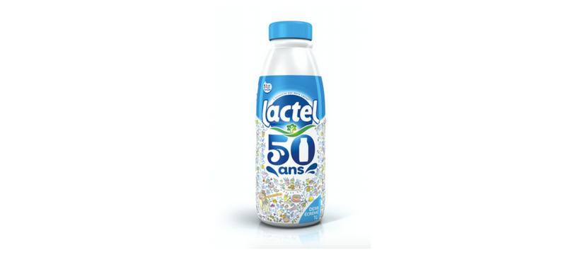 lactel bouteille collector pour les 50 ans