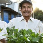 deux personnes portent des plantes