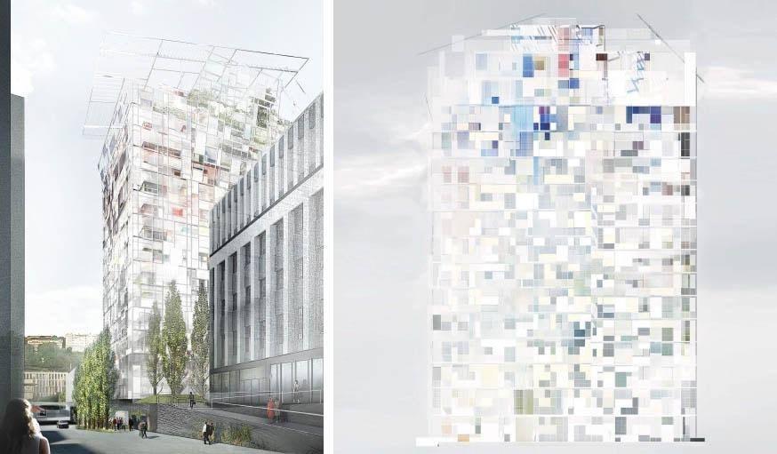concept de la tour ycone de Jean Nouvel