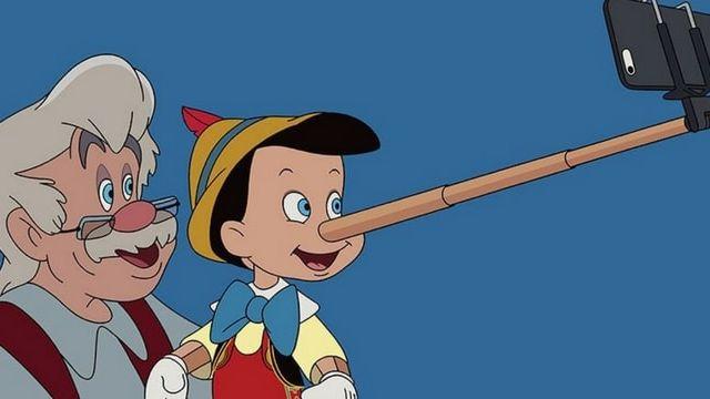 Pinocchio perche à selfie