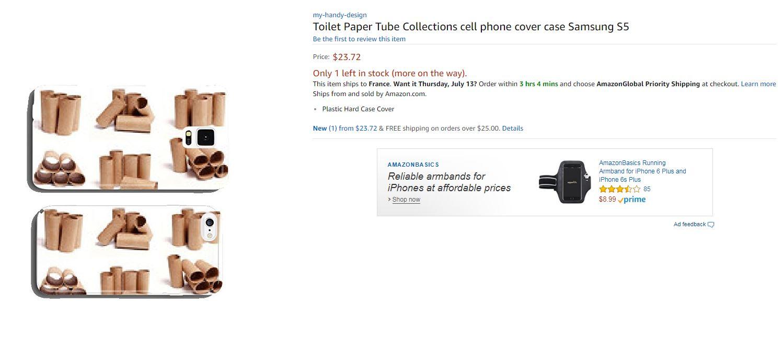 papier toilette coque Amazon