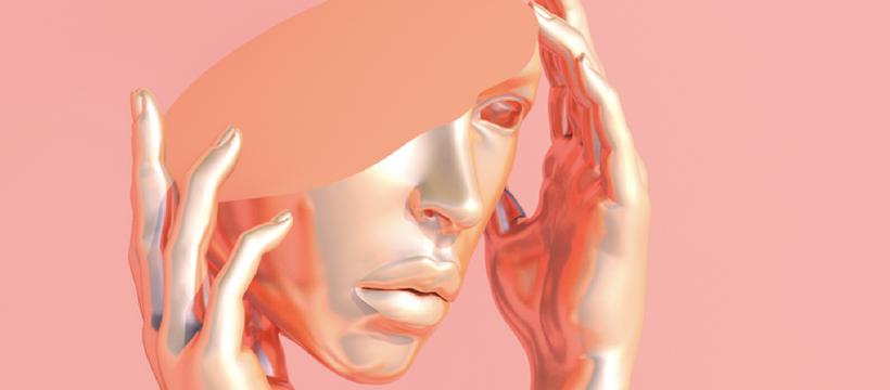 visage coupé sculpture