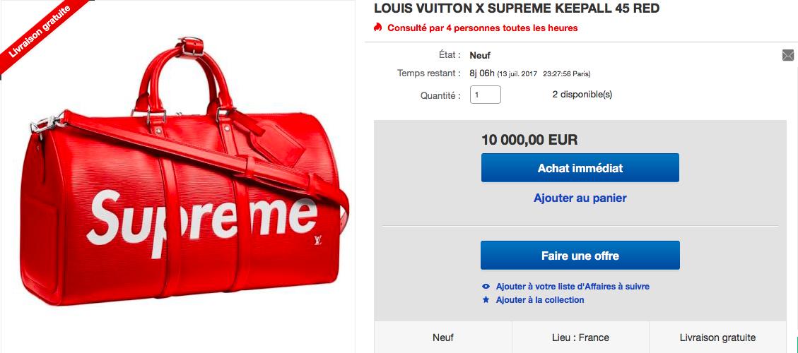 Supreme sur eBay