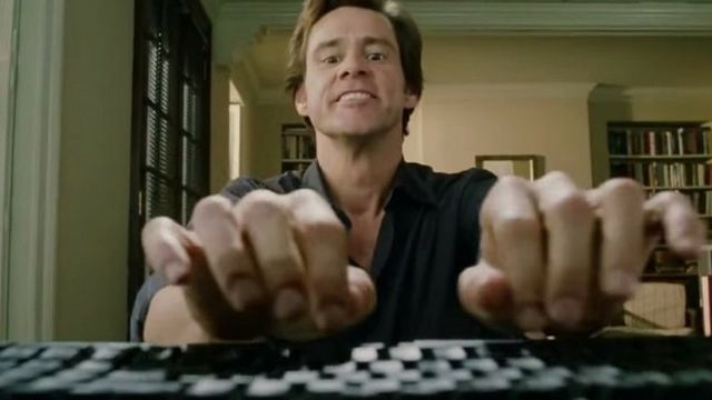 Jim Carrey Typing test