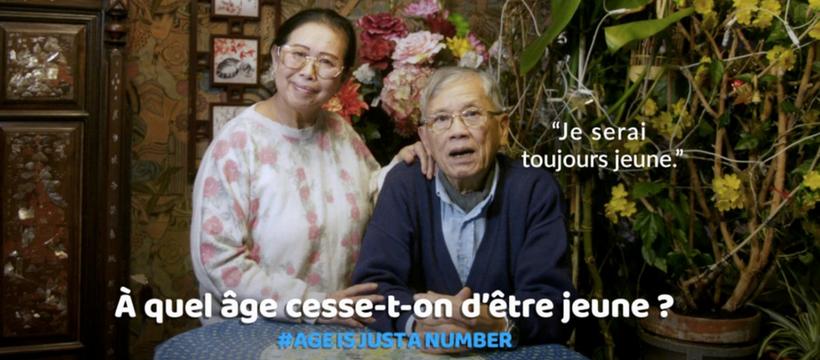 deux personnes âgées pour la campagne de varilux