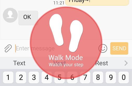 Walk Mode steps