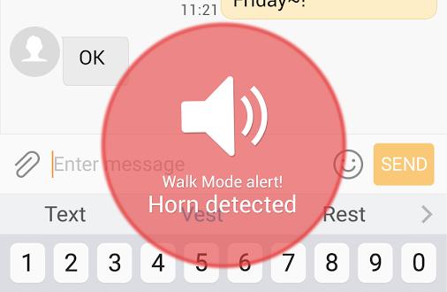 Walk Mode klaxons