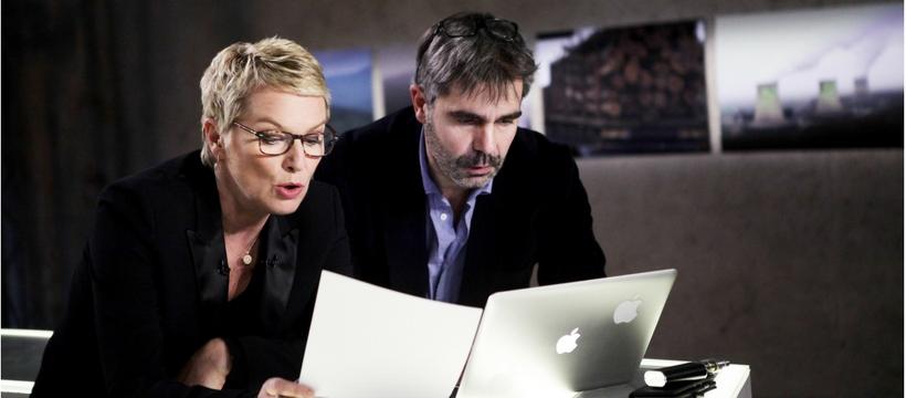 Elise Lucet et le directeur de la rédaction de Cash Investigation