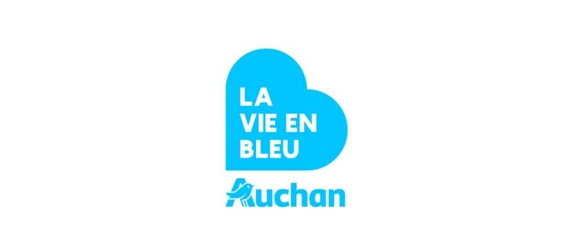 Auchan la vie en bleu Logo