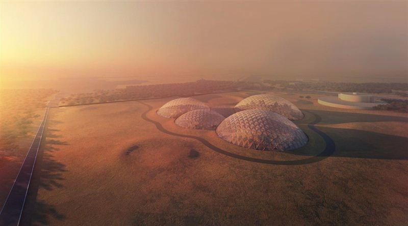 les dômes de la ville artificielle mars science city